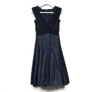 Tadashi black fit flare Sleeveless formal dress